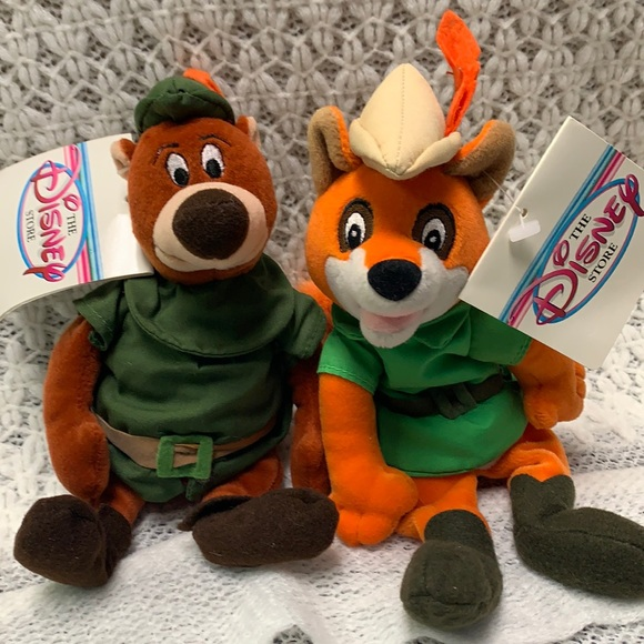 Disney Robin Hood Vintage Plush Bean Bag Toys NWT